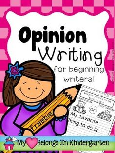 Opinion Writing FREEBIE!  Introduce your beginning writers to the idea of opinion writing with this mini set of printables.