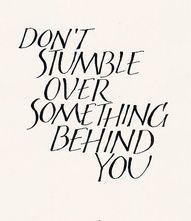 Don't stumble