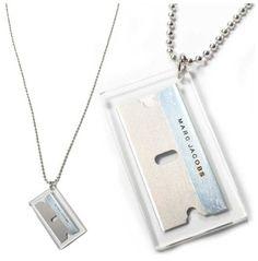 Marc Jacobs razor blade necklace