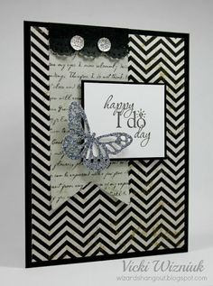 wedding card by Vicki Wizniuk using CTMH For Always paper