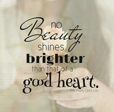 True beauty starts from within.