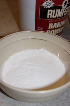 homemade (aluminum free) baking powder   1/4 c. baking soda, 1/2 c. cream of tartar, 1/4 c. arrowroot or corn starch