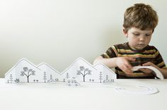 """Paper City """"Road Trip Pack. Instructions with print outs here: http://madebyjoel.com/2011/06/paper-city-road-trip.html?utm_source=rss_medium=rss_campaign=paper-city-road-trip"""