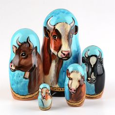 Cows Nesting Doll (www.therussianstore.com)