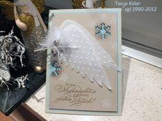 angel wings christmas card