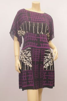 Consignment Store Anna Sui Dress Anna Sui Printed Wide Sleeve