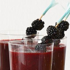 Put those blackberries to good use in a Blackberry Margarita. Adding a bit of citrus really brings out the flavor of the berries. blackberri margarita