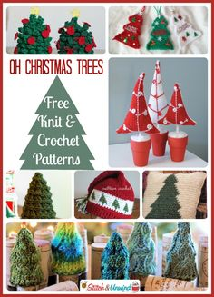 Of all the trees most lovely, knitted and crocheted trees are my favorite!