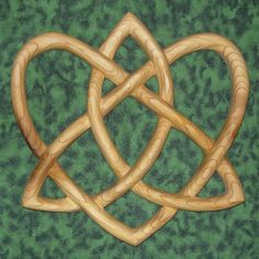 Trinity Love Knot Celtic wood carving