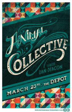 Animal Collective / Dan Deacon. Poster design: Courtney Blair (2013).