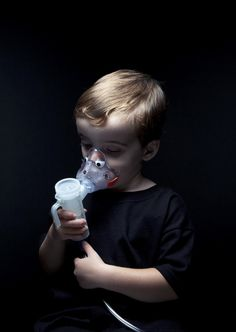 Little 4 year old Michael affected by cystic fibrosis.