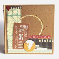 album de viaje - travel album scrapbook