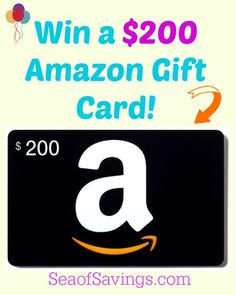 Amazon $200 Gift Card Giveaway - Ends September 2nd!