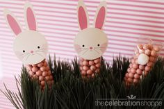 bunny treat bag toppers. so cute!