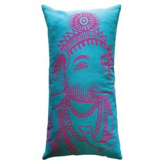 I pinned this Bazaar Ganesh Pillow in Turquoise from the Koko Company event at Joss and Main!
