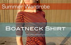 Sewing for ME: Boatneck Shirt | MADE