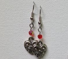 Decorative pewter heart leadfree earring by SutherlandJewelryCom, $6.00