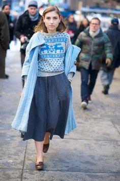 skirt & sweater