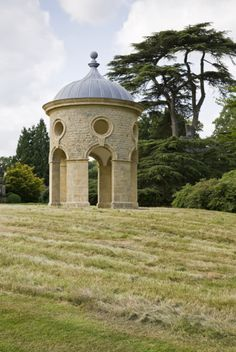 The rotunda at Woolbeding, designed by Philip Jebb to fill the place of a tulip tree that was blown over in the great storm of 1987. ©Nation...