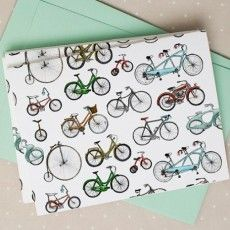 Free Printable: bicycle note cards
