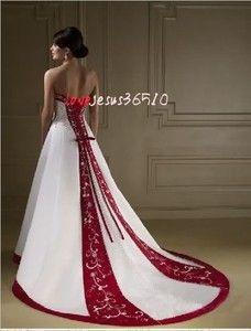 back of red wedding dress