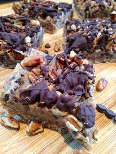 chocolate pecan pie bars ~vegan, gluten free, grain free~