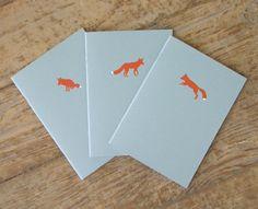 Fox Notebooks - Set of 3 Cahiers. $18.00, via Etsy.