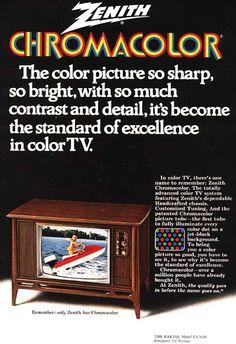 Zenith Chromacolor TV, 1970s