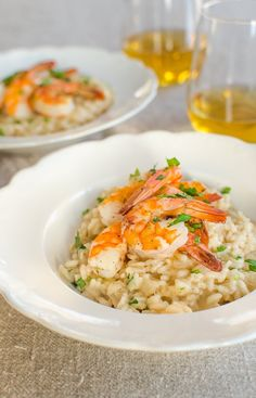 Recipe for Two (or More):  Parmesan Risotto with Roasted Shrimp   Recipes from The Kitchn