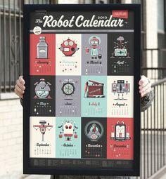 Robot Calender