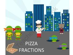 Ninja Turtles Fraction Learning Center! Enter for your chance to win.  Ninja Turtle Fraction Pizza Centers - 60 PAGES (60 pages) from Teaching my Two on TeachersNotebook.com (Ends on on 9-3-2014)  Learn Fractions with your favorite Turtles in this fun Games pack. Lots of interactive games, worksheets and more for various levels of difficulty! :)