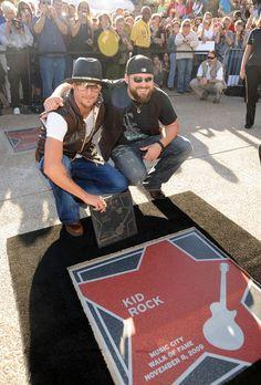 Singer/Songwriter Zac Brown presents Kid Rock's star in Nashville at the Walk of Fame