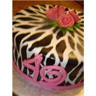 Cow Print/ 40th Birthday Cake