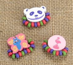 Kids Wooden Ring Set - Panda, Flamingo, Butterfly at theBIGzoo.com, a family-owned store. Check our sales & FREE Shipping.