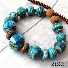Polymer clay bracelet by Zuta.