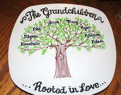 Grandmother Family Tree Grandchildren by DesignsByRaeSmith on Etsy