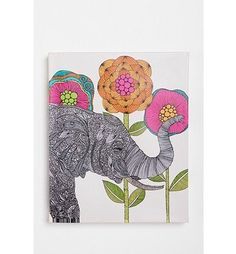Elephant & Flowers Artwork #create #flowers #artwork