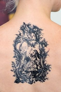 Antique Alice in Wonderland Tattoo by SeventhSkin on Etsy