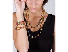 Multicolor bracelet and necklace!