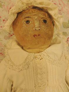22 IN Antique Cloth Doll, North Carolina Cloth Doll from ashleysdollsandantiquities on Ruby Lane