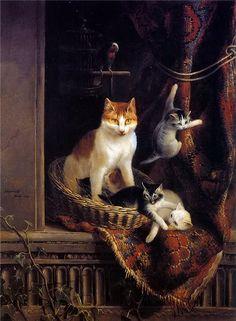 Cats by Henriette Ronner-knip