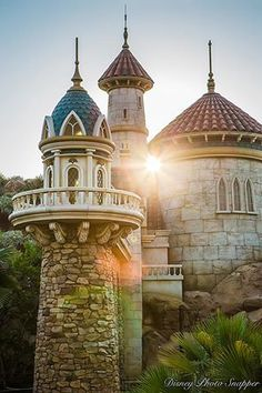 A beautiful early morning picture of Prince Eric's Castle at the Magic Kingdom.
