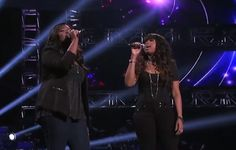 Candice Glover sing a duet with Jennifer Hudson