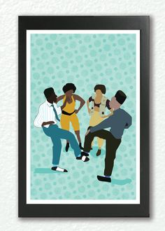 Classic Movie Poster  House party Kid n Play, Classic Hip hop by GoodNightOwlDesigns, $22.00    Another Classic 80's/90's movie. Kid n Play in House Party. I can't tell you how many times I tried to practice these moves.