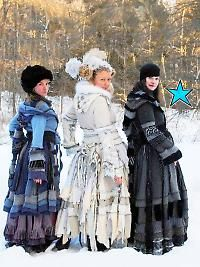 Colorful recycled pixie-fairy tribal coats