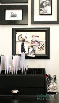 Tips and tricks to create an office space bedside... Plus how to organize your desktop organizer!