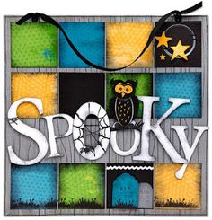 #DIY spooky sign idea and instructions from #CTMH!
