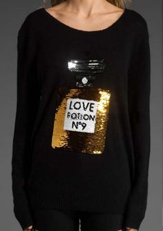 Love Potion No 9 Perfume Sequined Sweater $27