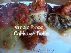 Grain Free Cabbage Rolls- Paleo, Grain Free, Gluten Free