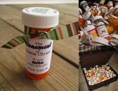 Mrs Home Ec: Medicine Bottle Handouts about Atonement